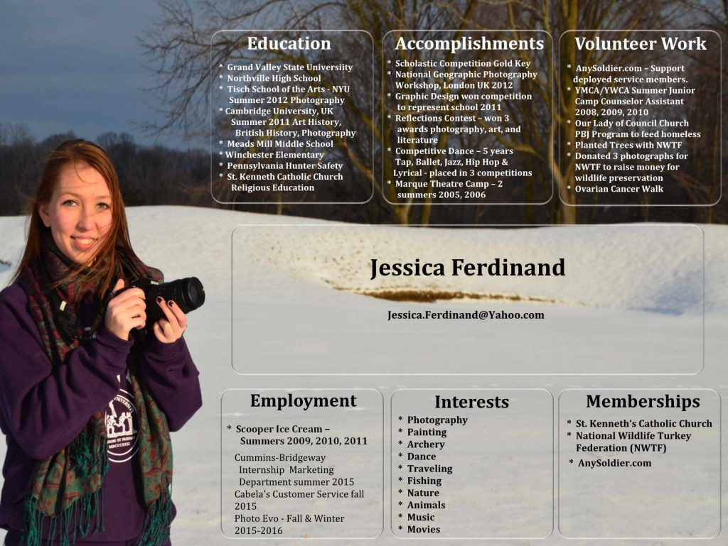 resume for Jessica Ferdinand